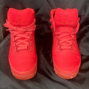 Red hot Timberlands these are great condition!